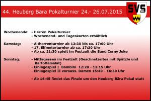 Rahmenprogramm Heuberg Bära 2015